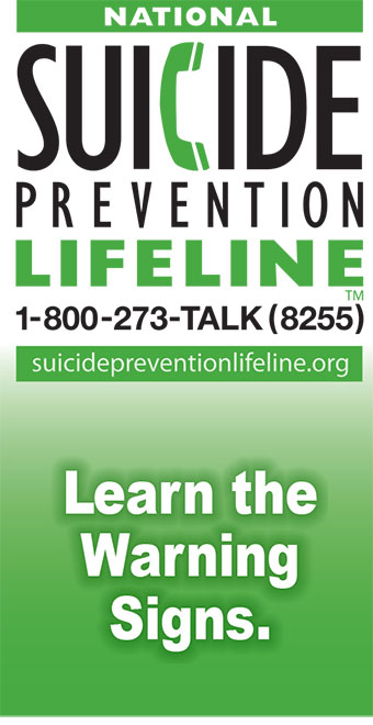 long banner suicide prevention